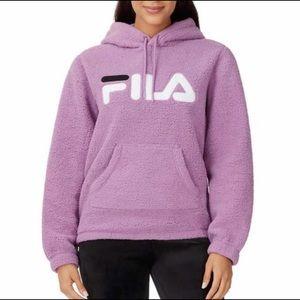 🔥 Fila Ladies Plush Fleece Hoodie - Purple